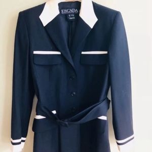 ESCADA blazer navy blue and white size 8. 🎁🎁